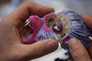 Stratasys PolyJet is being used by award-winning stop-motion animators at LAIKA to ensure naturalistic facial animation for its puppets. Image courtesy of Stratasys.