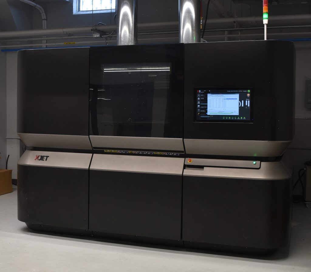 XJet Carmel 1400 system, newly installed at the Youngstown Business Incubator in Youngstown Ohio. The system uses a proprietary process called NanoParticle Jetting to 3D print in ceramics and metals. (Image courtesy Youngstown Business Incubator)
