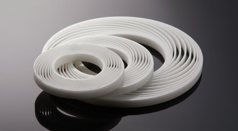 z=Zirconia ceramic part 3D printed on an XJet NanoParticle Jetting system. (Image courtesy XJet)
