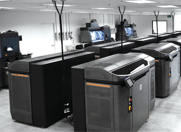 HP Jet Fusion 3D 4200 printers create a path to industrial 3D manufacturing and mass customization. Image courtesy of HP.