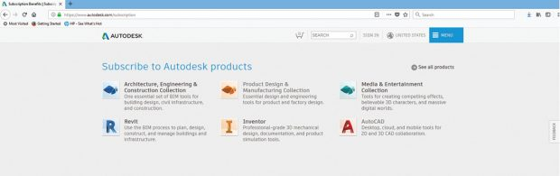 Autodesk stopped selling perpetual licenses in February 2016. Today, the only purchase option is subscription. Image courtesy of Autodesk.