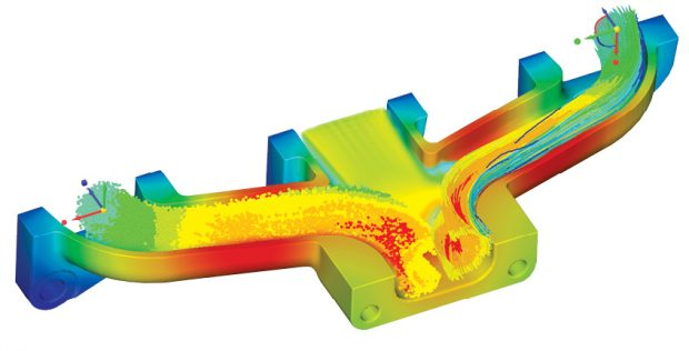 Targeting the designers, ANSYS Discovery Live uses a simplified user interface and automation to speed up simulation, resulting in near-instant feedback. Image courtesy of ANSYS.