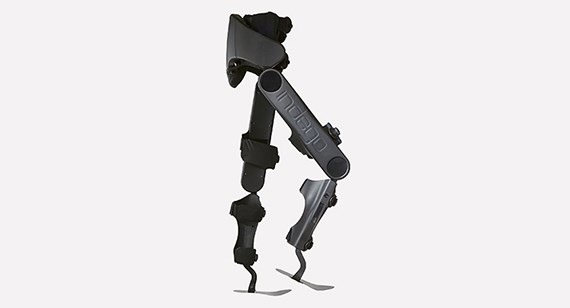 Parker Hannifin's Indego robotic exoskeleton is designed to help users with lower limb paralysis walk again. During development, Parker Hannifin used Protolabs to test design iterations quickly. 3D printed Parker Hannifin Indego exoskeleton image courtesy of Protolabs, Inc.